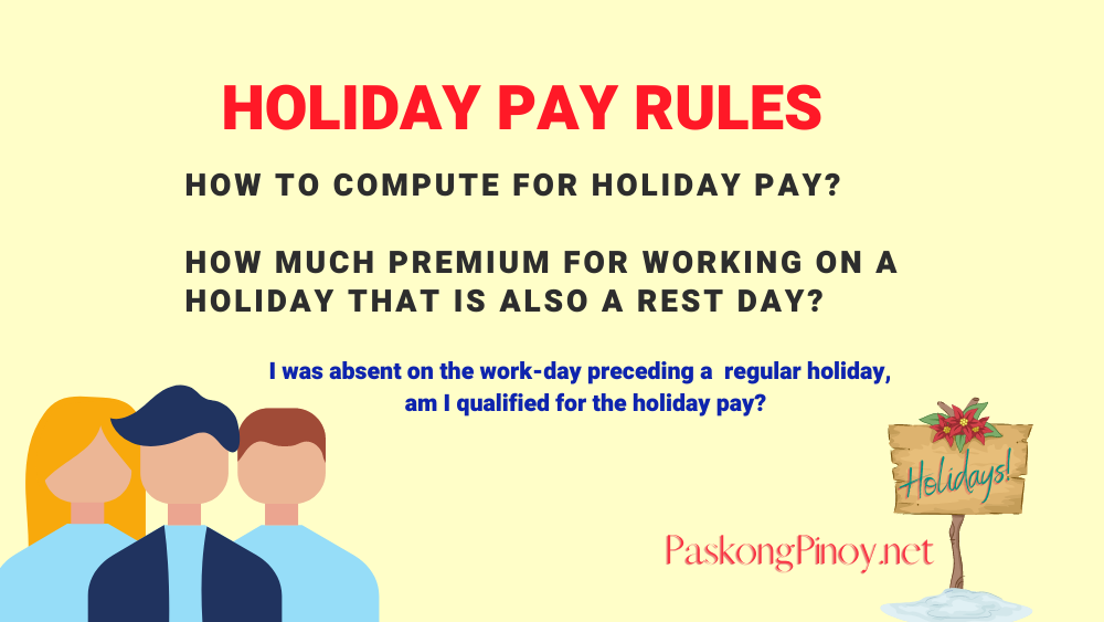 dole holiday pay rules philippines